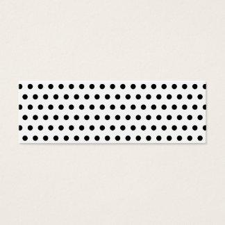 白黒水玉模様パターン。 むらがある スキニー名刺