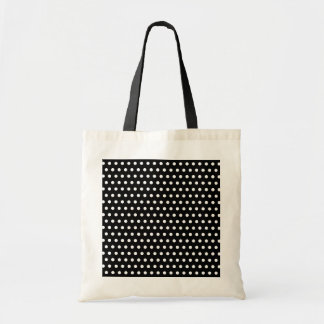 白黒水玉模様パターン。 むらがある トートバッグ