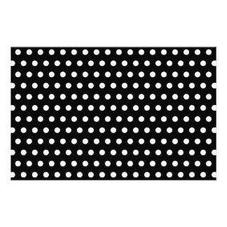 白黒水玉模様パターン。 むらがある 便箋