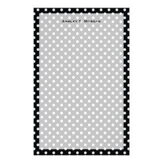 白黒水玉模様パターン 便箋