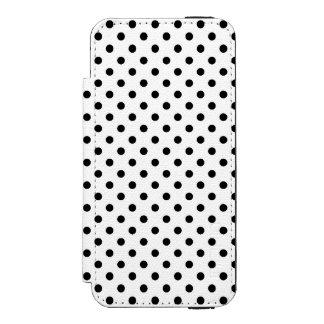 白黒水玉模様パターン INCIPIO WATSON™ iPhone 5 財布 ケース