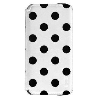 白黒水玉模様パターン INCIPIO WATSON™ iPhone 6 財布ケース
