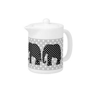 白黒水玉模様象