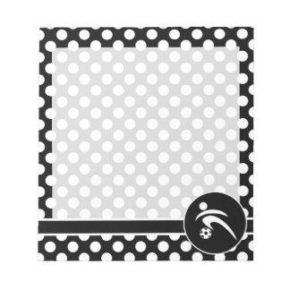 白黒水玉模様; サッカー ノートパッド
