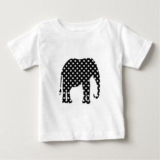 白黒水玉模様 ベビーTシャツ