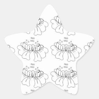 白黒泡花 星シール