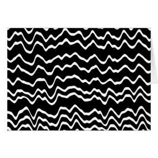 白黒波パターン カード