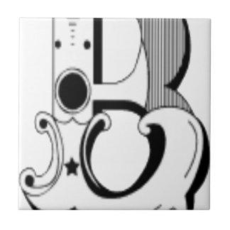 白黒涼しい手紙 タイル