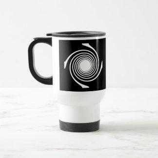 白黒渦巻の設計 トラベルマグ