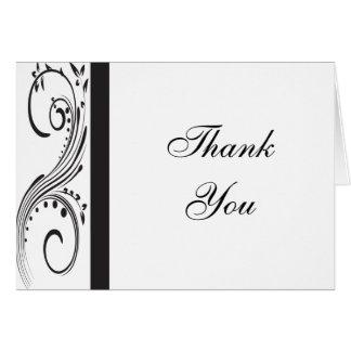 白黒渦巻は感謝していしています カード