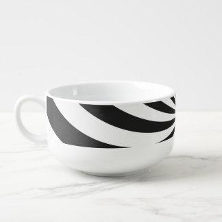 白黒渦巻パターン スープマグ
