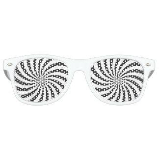 白黒渦巻パターン レトロサングラス