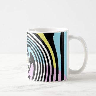 白黒渦巻 コーヒーマグカップ