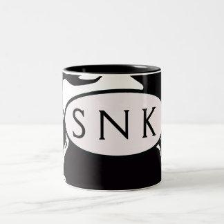 白黒渦巻 ツートーンマグカップ