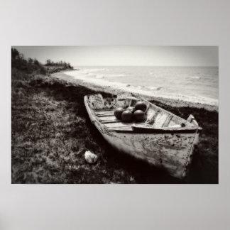 白黒漁船 ポスター