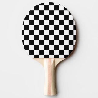 白黒点検パターン 卓球ラケット