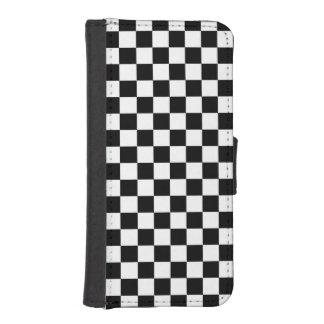 白黒点検パターン iPhoneSE/5/5sウォレットケース