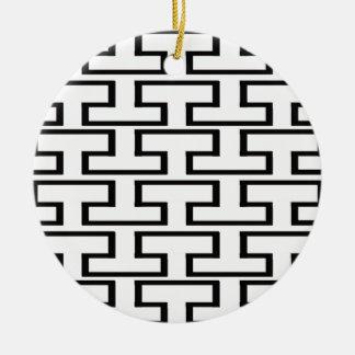 白黒煉瓦 セラミックオーナメント