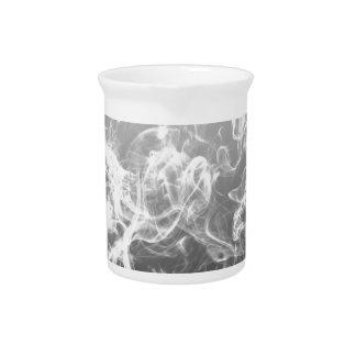 白黒煙の芸術パターンファッション ピッチャー