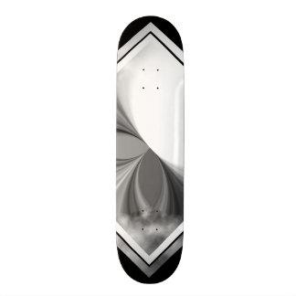 白黒煙パターンカスタマイズ可能なデッキ1 スケートボード