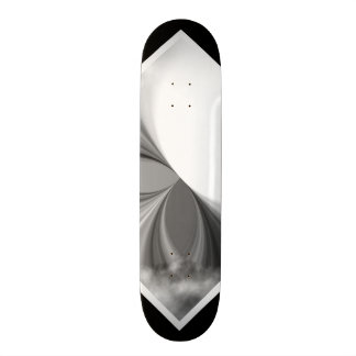 白黒煙パターンカスタマイズ可能なデッキ2 スケートボード