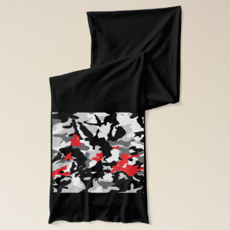 白黒熱いサファリのカムフラージュ スカーフ