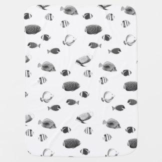 白黒熱帯魚のベビーブランケット ベビー ブランケット