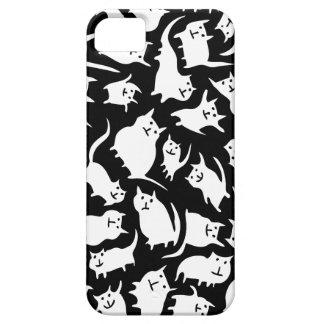 白黒熱狂するな猫のiPhone 5の箱 iPhone SE/5/5s ケース