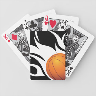 白黒燃えるようなバスケットボール バイスクルトランプ