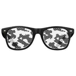 白黒牛パターン レトロサングラス
