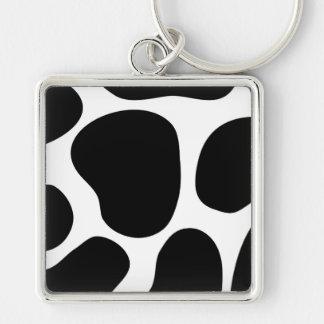白黒牛プリントパターン キーホルダー