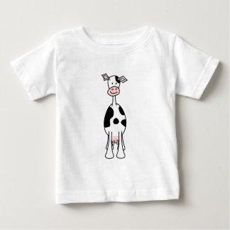 白黒牛漫画。 前部 ベビーTシャツ