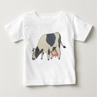 白黒牛 ベビーTシャツ