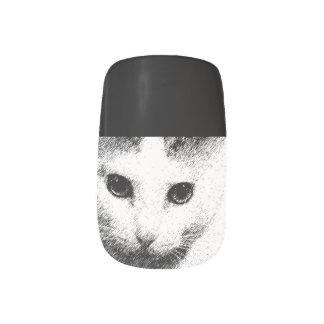 白黒猫のネイルart. ネイルアート