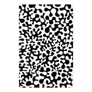 白黒珊瑚のしみ 便箋