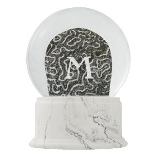 白黒珊瑚IIの抽象的な自然の写真 スノーグローブ