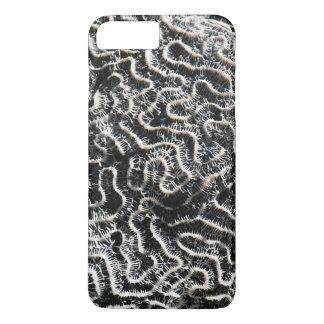 白黒珊瑚IIの抽象的な自然の写真 iPhone 8 PLUS/7 PLUSケース