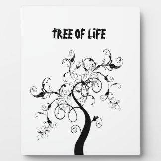 白黒生命の樹 フォトプラーク