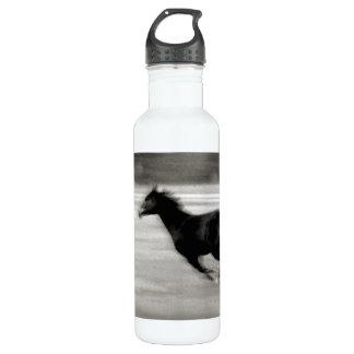 白黒疾走する馬 ウォーターボトル