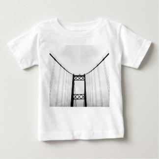白黒白黒橋ベビーのTシャツ ベビーTシャツ