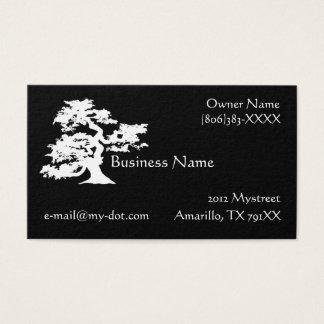 白黒盆栽のシルエットの名刺 名刺