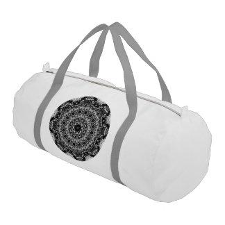 白黒目まぐるしく幾何学的な曼荼羅 ジムバッグ