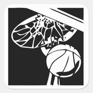 白黒確実の魅惑的な縁のステッカー スクエアシール