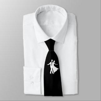 白黒社交ダンスのネクタイ ネクタイ