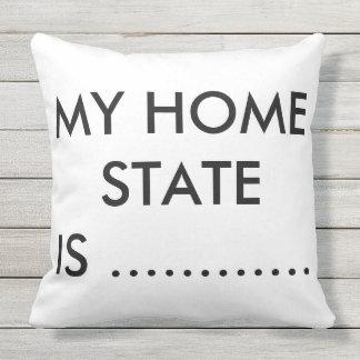 白黒私の州の枕 クッション
