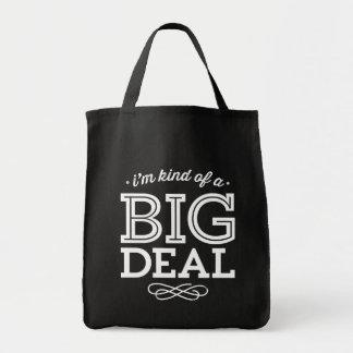 白黒私はちょっと大事のおもしろいな引用文です トートバッグ