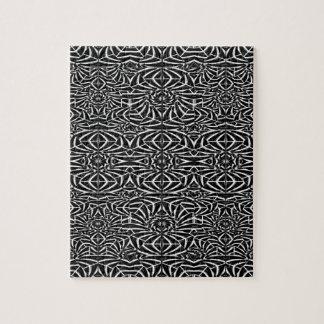 白黒種族パターン ジグソーパズル