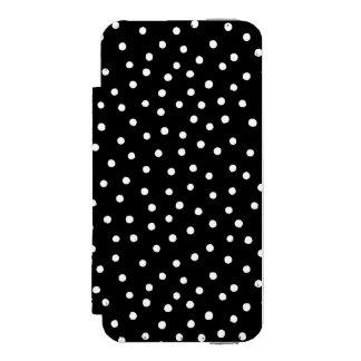 白黒紙吹雪のドット・パターン INCIPIO WATSON™ iPhone 5 ウォレット ケース
