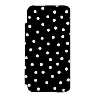 白黒紙吹雪のドット・パターン INCIPIO WATSON™ iPhone 5 財布 ケース