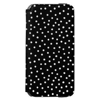 白黒紙吹雪のドット・パターン INCIPIO WATSON™ iPhone 6 財布ケース